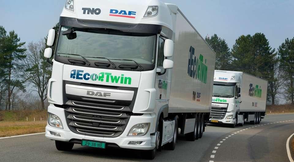 DAF EcoTwin. Движение «паровозиком»