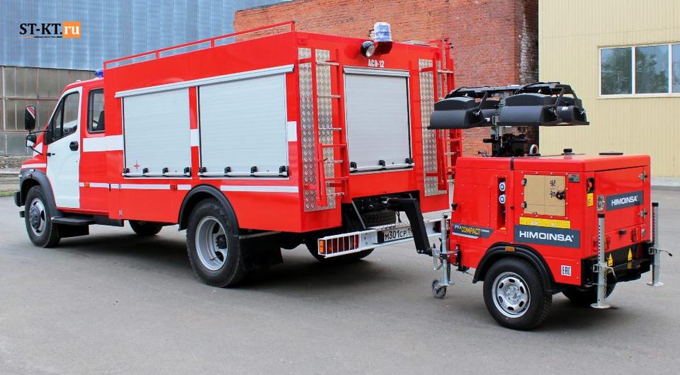 Спецавтотехника: свет, связь и электричество на месте пожара