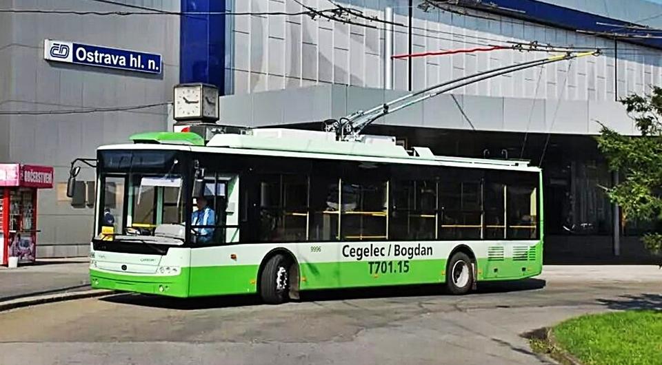 Троллейбусы «Богдан» выиграли тендер в Чехии